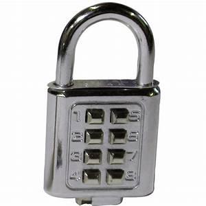 Cadenas à Code : cadenas combinaison digitale 8 chiffres cadenas code ~ Edinachiropracticcenter.com Idées de Décoration