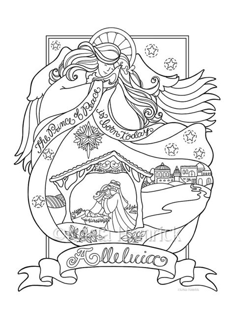 angel nativity coloring page   sizes