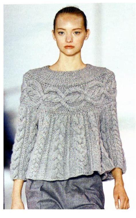 ganchillo  dos agujas sweater  torzadas trenzas tejido ganchillo  dos agujas tejer