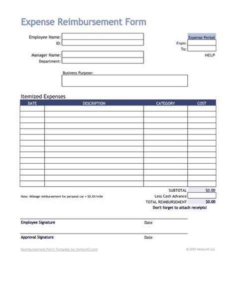expense reimbursement form  vertexcom