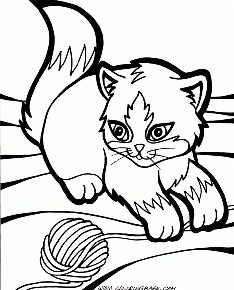 kitten coloring pages  large images coloring pages