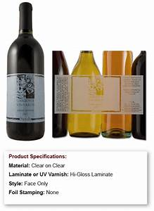 wine labels photo gallery With clear wine labels