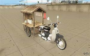 Honda Super Cub With A Cart For Gta San Andreas