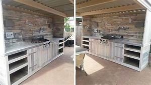 Plan Meuble Palette : plan de travail cuisine en palette nv91 jornalagora ~ Dallasstarsshop.com Idées de Décoration