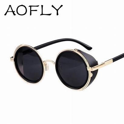 Sunglasses Glasses Designer Retro Side Steampunk Visor
