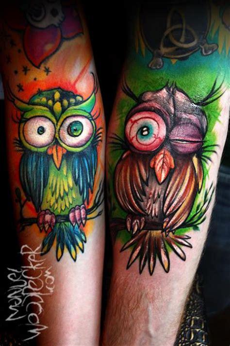 foto de ManuelWoodpecker: Partner Eulen Tattoos von Tattoo