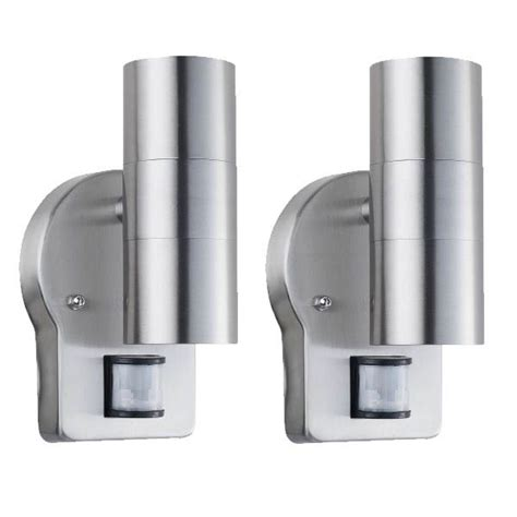 2 x nartel mains outdoor wall up down double spotlight