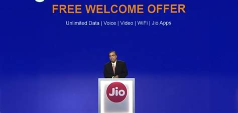 reliance announces jio welcome offer for all 4g smartphones with free unlimited data till