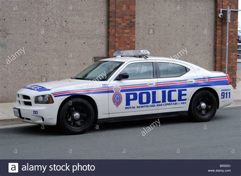 Dodge Charger Police Car In The Newfoundland Police Force