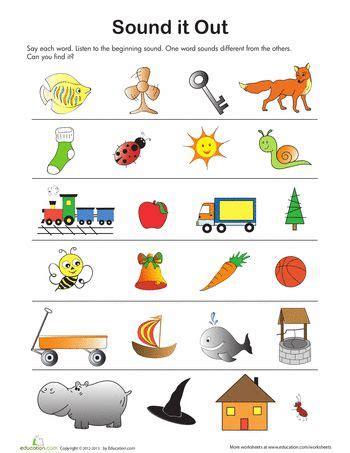 sound  letters preschool phonics worksheets  kids