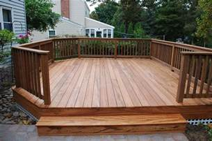 outdoor free standing deck plans house design and decorating ideas