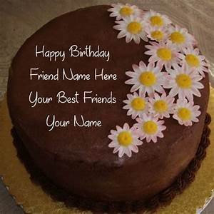 Friend Birthday Wishes Name Cake Photo Edit Online