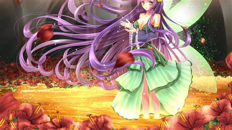 wallpaper anime girl forest fairy hd anime