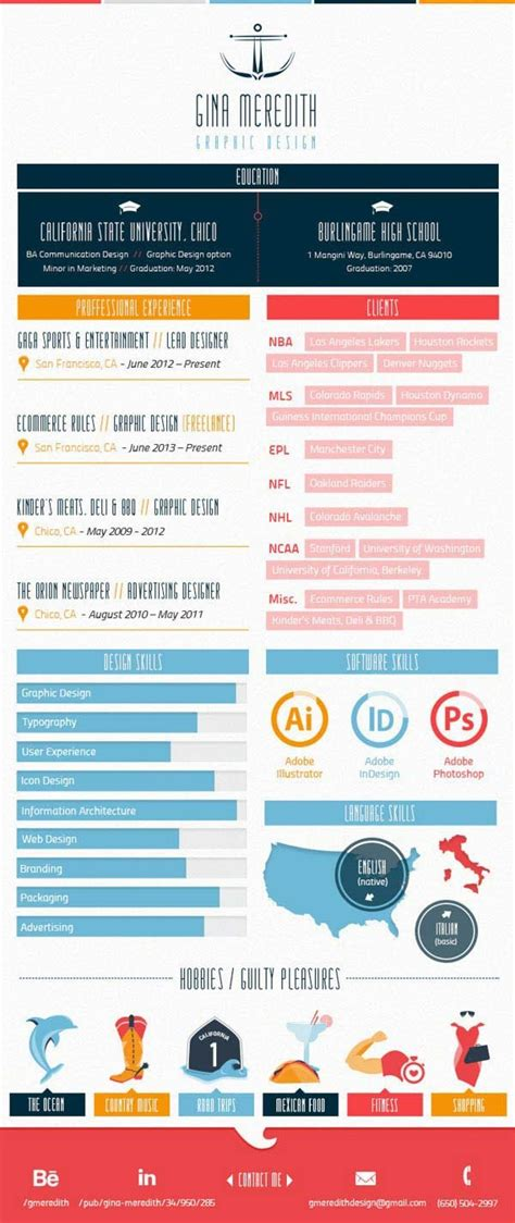 Create Your Own Infographic Resume by 30 Infographic Resumes That Stand Out Jayce O Yesta