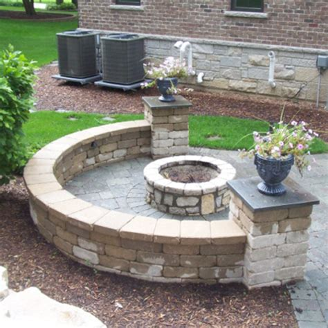 fireplaces circular fit pits outdoor fireplaces