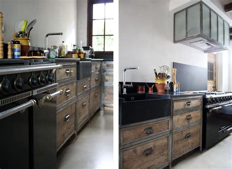 cuisine en u maison de cagne reyrieux beton cire lyon