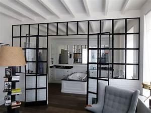 Salle De Bain Style Atelier : verriere retro salle de bain ~ Teatrodelosmanantiales.com Idées de Décoration
