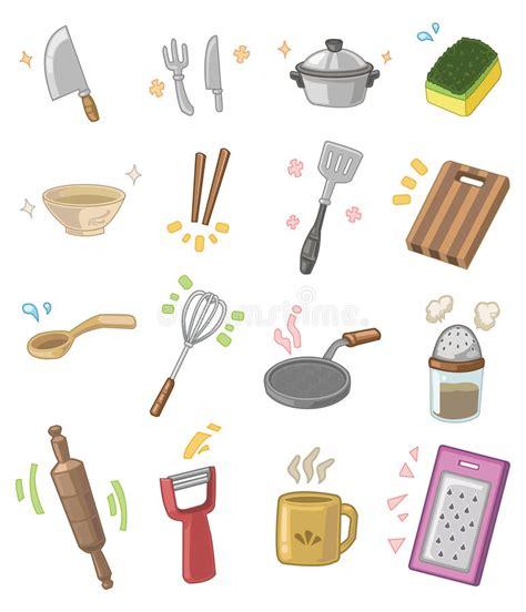 marteau de cuisine ustensiles de cuisine de dessin animé illustration de
