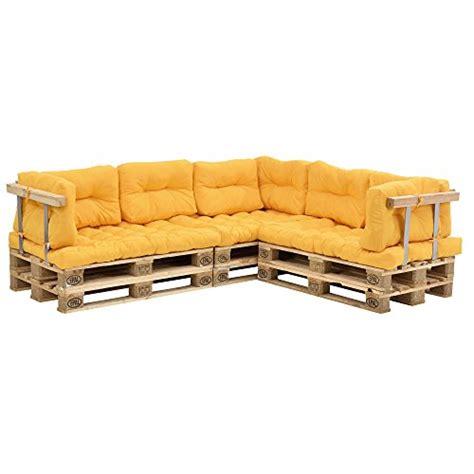 canapé en palette avec dossier en casa canapé de palettes 5 siège avec coussins
