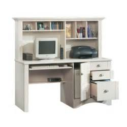 sauder harbor view antiqued white computer desk w hutch