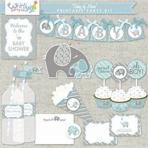 Boy Baby Shower Printable PDF Party Baby of Mine