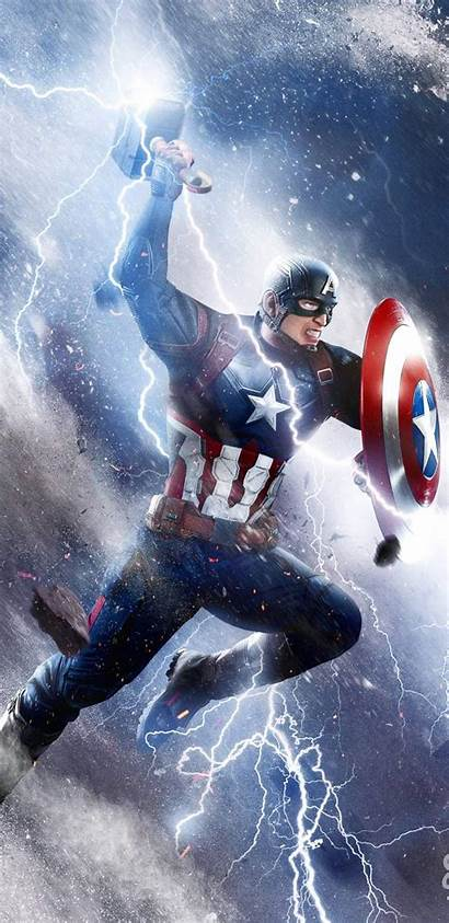 Thor Captain America Hammer Iphone Attack Wallpapers