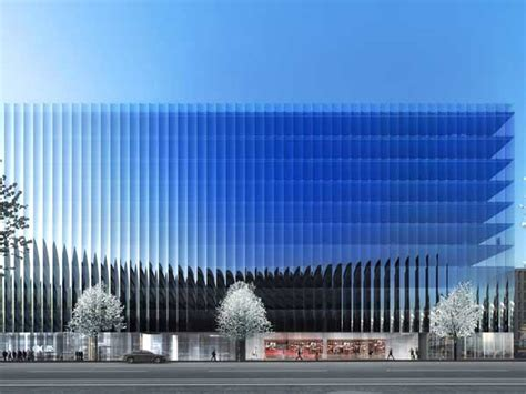 mullion  concaved glass facade planned