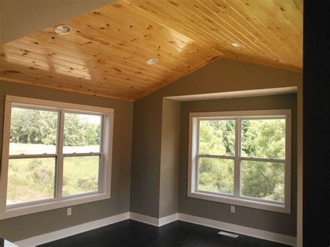dining room  knotty pine ceiling built  armstrong builders  rockford mi knotty pine