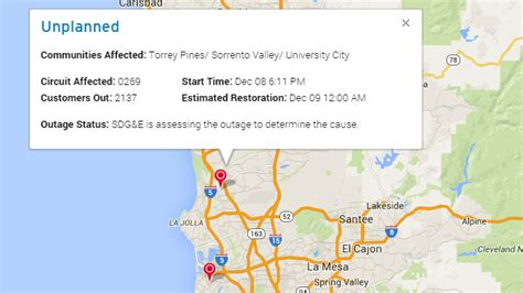 power outage hits utc area lights due   midnight