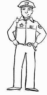 Police Policeman Poliziotto Colorare Mewarna Balai Clipartmag Coloringfolder sketch template