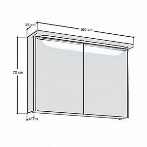 Spiegelschrank 100 Cm Led : duschmeister skagen spiegelschrank mit led lichtleiste 100 cm spiegelschrank ~ Bigdaddyawards.com Haus und Dekorationen