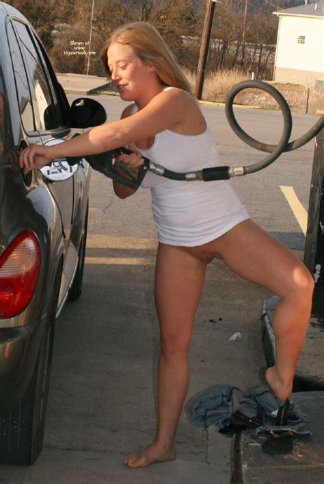 Hot Girl At The Gas Pump April Voyeur Web Hall