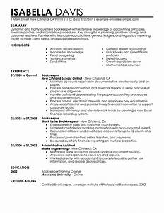 unforgettable bookkeeper resume examples to stand out With bookkeeper resume template