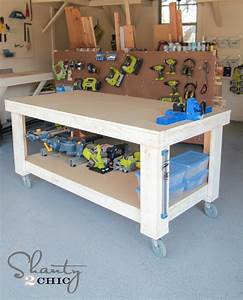 Woodwork Diy Workbench On Wheels PDF Plans