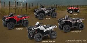 2016 Honda Atv Reviews Model Lineup Details Differences