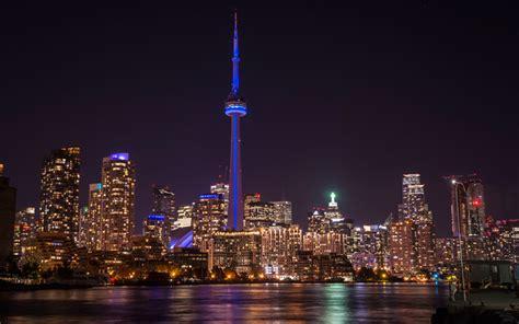 Herunterladen Hintergrundbild Toronto, 4k, Cn Tower