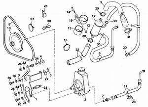 Omc Stern Drive Power Steering Pump Parts For 1989 5 7l