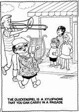 Glockenspiel Bay Area Symphony Coloring Morrie Turner Wee Complements Pals Creators 1999 sketch template