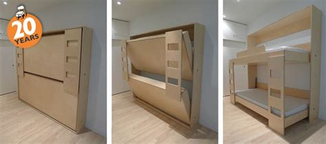 folding bunk bed smallspaces microliving small spaces