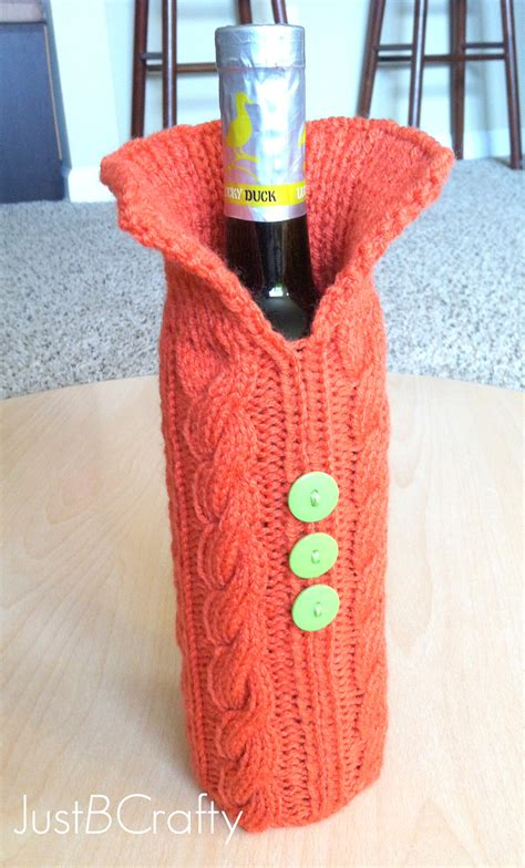 wine sweater knit your wine bottle a sweater just be crafty