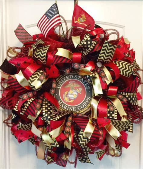 Marine Corps Decor by Military Wreath Us Marine Corp Wreath Usmc Wreath Military