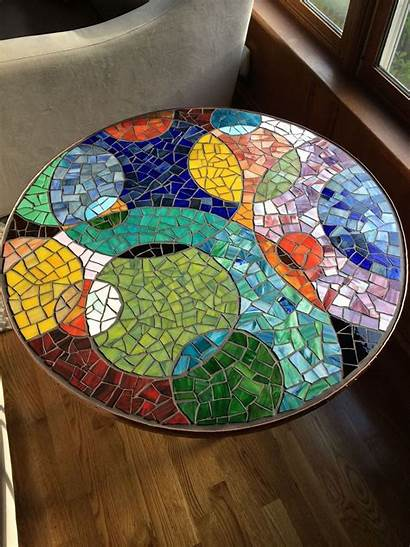 Mosaic Tables Table Round Tile Patterns End