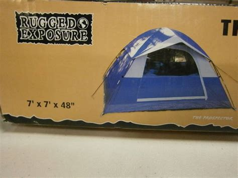 rugged exposure tent sporting goods returns shelf pulls in aberdeen
