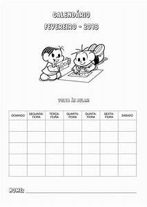 Calendário 2018 com aturma da Mônica calendário de professor