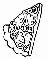Pizza Coloring Pages Slice Pepperoni Sheets Clipart Template Pusheen Printable Popular Delicious sketch template