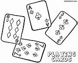 Playing Cards Coloring sketch template