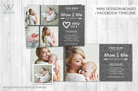 mom   mini session template card templates