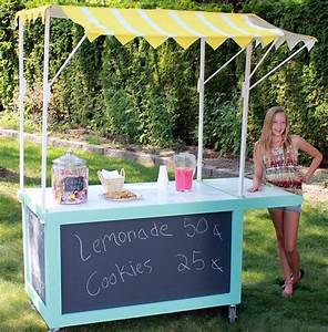 Spray Painted Lemonade Stand Canopy - Sawdust Girl®