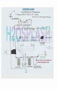 7 Stage Ro Di Uv With Booster  U0026 Permeate Pump Diagram