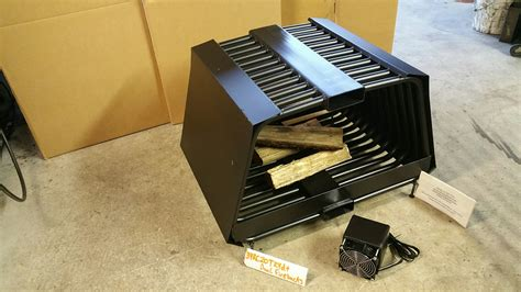 Rc Rib Cage Double Sided Fireplace Grate Blower Wood Rack